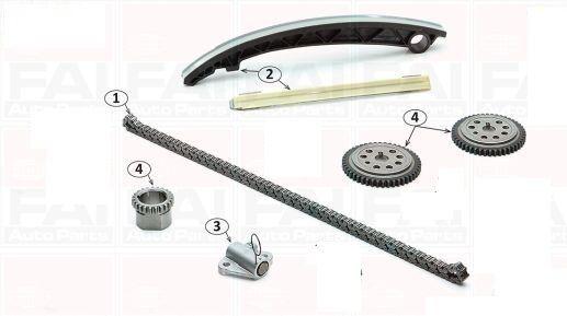 SMART 600-3CIL 97/> SUPER KIT DISTRIBUZIONE A CATENA+KIT POMPA OLIO 10 PZ.