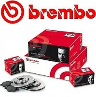 KIT DISCHIPATTINI FRENO BREMBO ANT E POST RENAULT LOGAN I ESTATE KS 0407