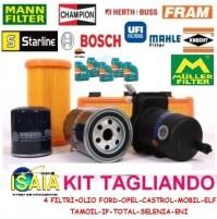 KIT TAGLIANDO FILTRI + 5 LITRI OLIO CASTROL EDGE 5W30 AUDI A4 (8E,8H,B6) 2.0 TDI