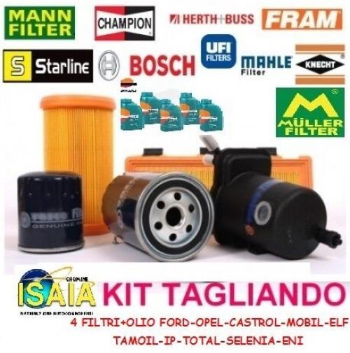 KIT TAGLIANDO FILTRI+5 LITRI OLIO SELENIA WR 5W40 FOR FIAT SEDICI 1.6 16V