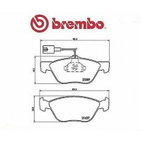 P23077 BREMBO KIT 4 PASTIGLIE FRENO ANT FOR FIAT MAREA WEEKEND (185) 2.4 TD 125