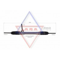 SCATOLA STERZO NUOVA PER FOR FIAT PANDA/1.1-1.2-1.3MJTD DAL 2003-> CON CITY L.1010MM